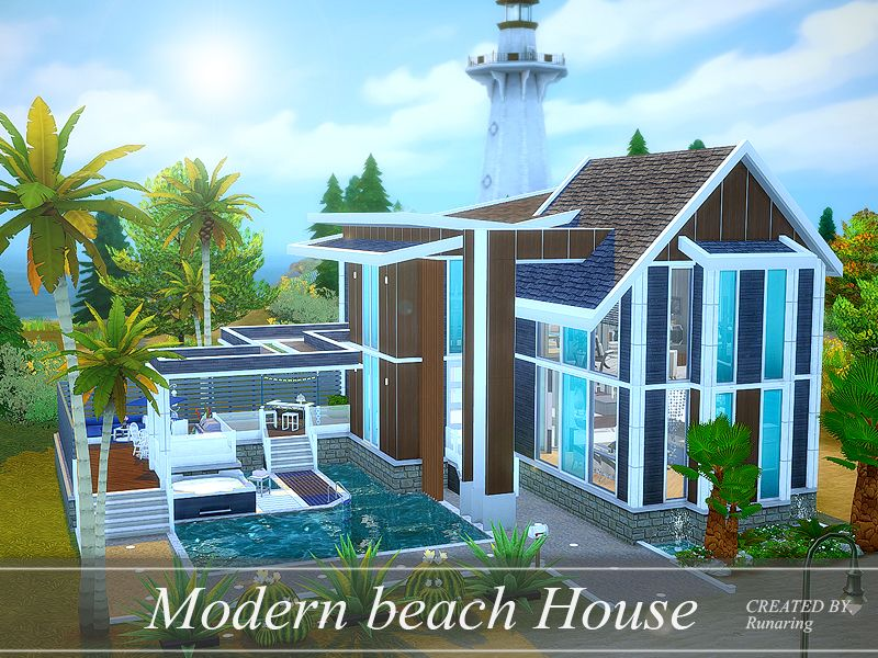 It is a modern beach house suitable for the beach. Found