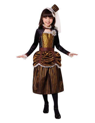 Steampunk Vintage Cogs Gears Girl Kids Fancy Dress Costume Outfit