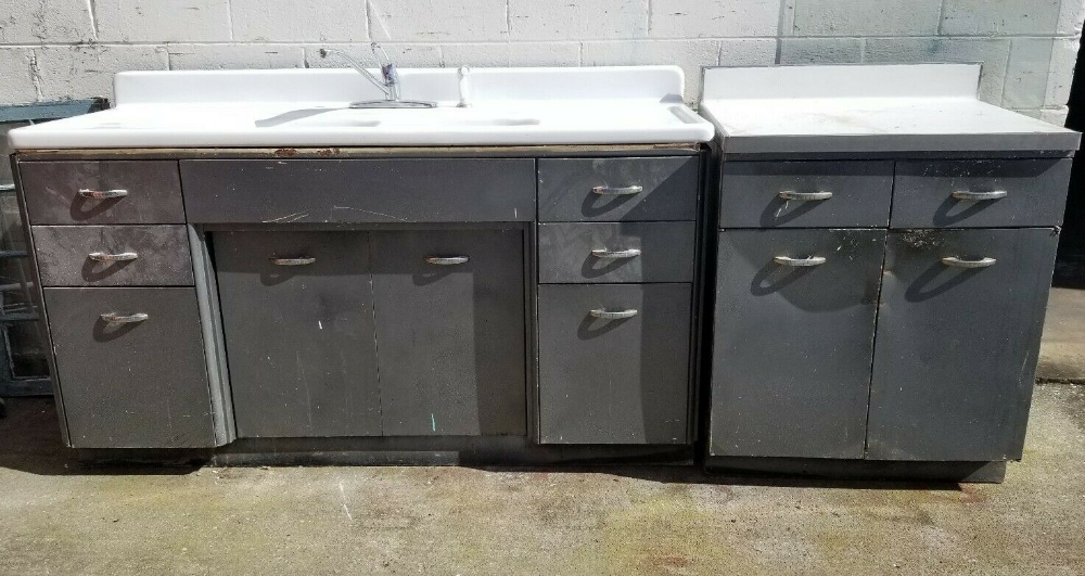 Youngstown Kitchen Cabinets By Mullins Vintage Retro Sink Antique Metal For Sale Online Ebay Metal For Sale Vintage Metal Cabinet Kitchen Cabinets