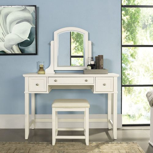 Found it at Wayfair - Manette Vanity Set with Mirror Home decor - Bedroom Vanity Table