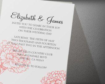 Custom Modern Red And Black Wedding Invitation