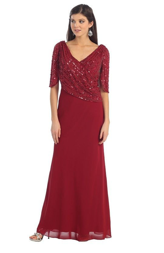 evening gown with sleeves Mother+Bride+Women+Size+Dresses | cute ...
