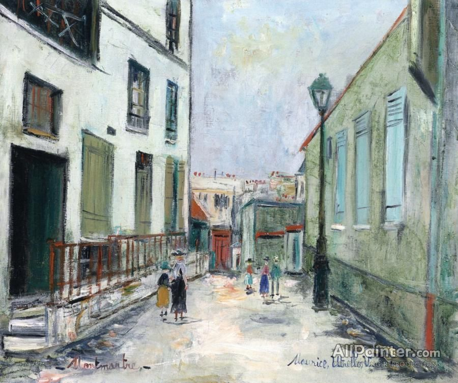 Maurice Utrillo Dead End In Montmartre oil painting reproductions for sale