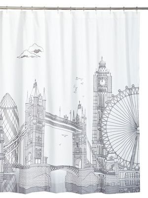 London Shower Curtain By Blissliving Home At Gilt Bathroom