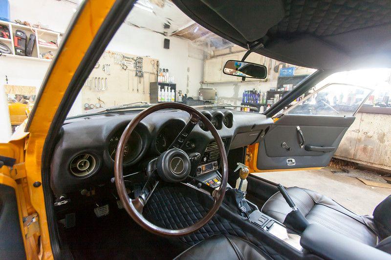 Bahama Yellow Datsun 240z Brand new Interior