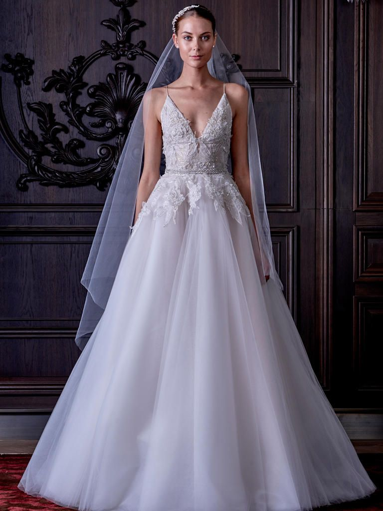 Monique Lhuillier Spring Wedding Dresses Show Us The Dark Side Of