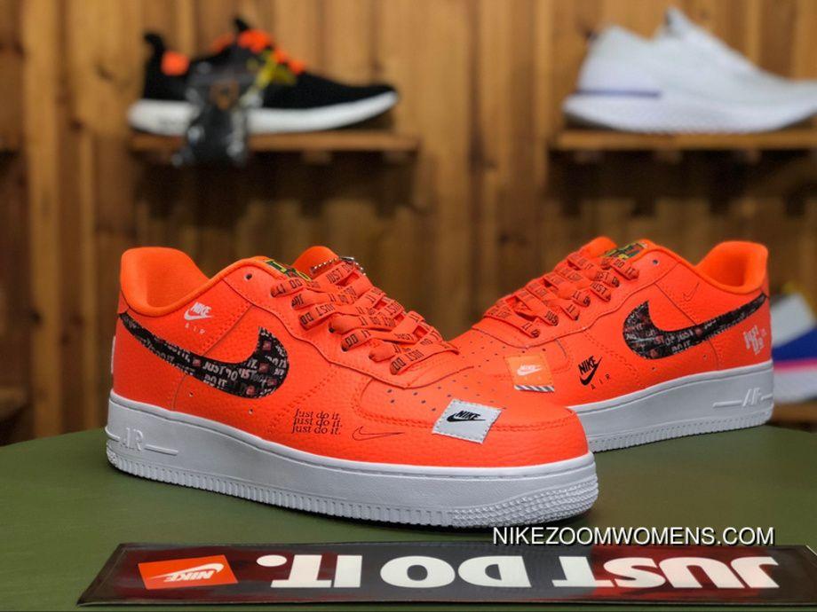 Nike Air Force 1 Low 07 Premium Just Do It Pack Total Orange