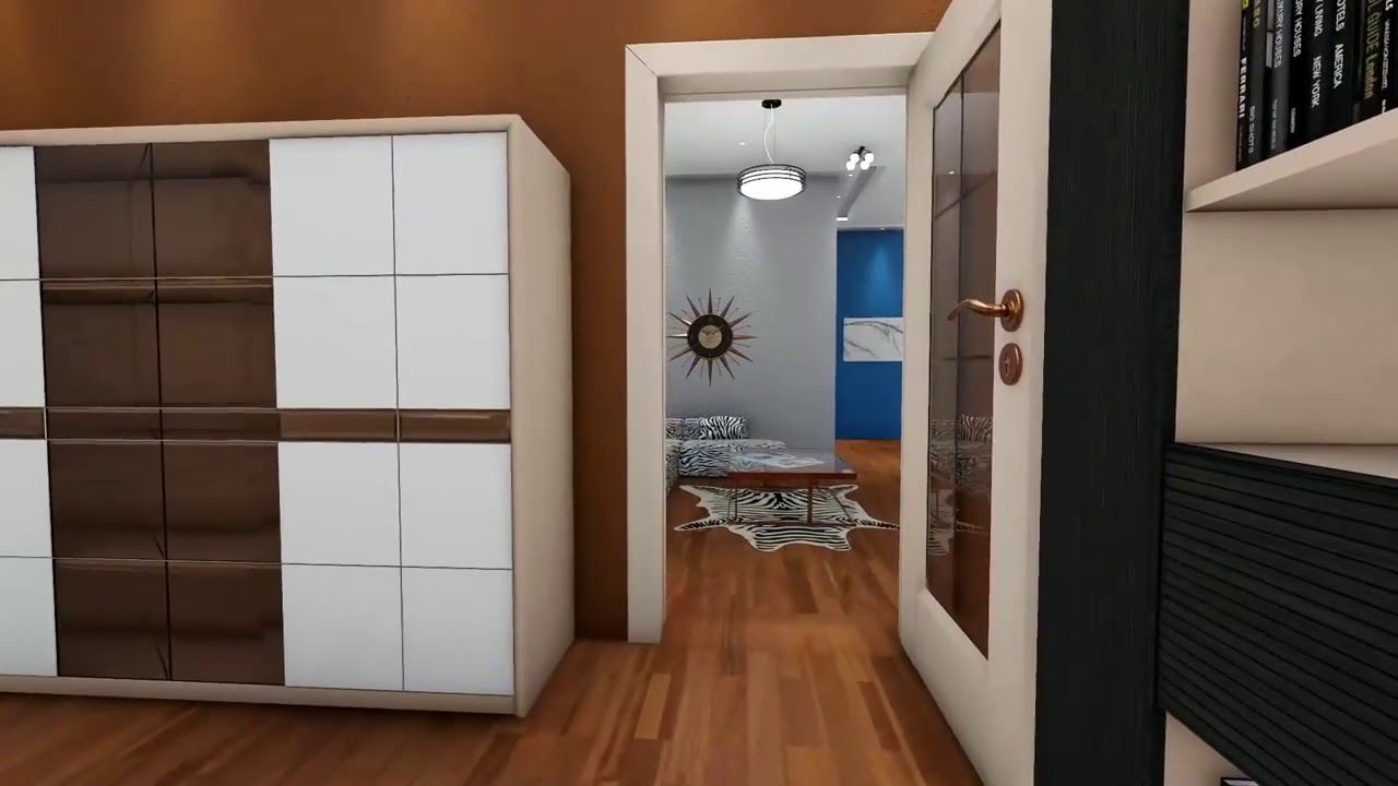 تصميم شقة مودرن على مساحه 100 متر تقريبا Home Home Decor Room Divider