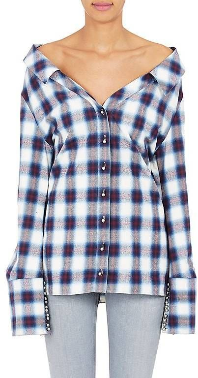 70d259df3374 Off-White Women s Checked Cotton Flannel Shirt