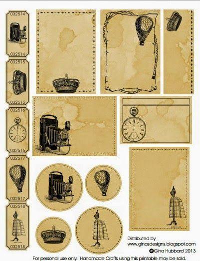 Vintage periódico Pegatinas página vieja tarjeta de proyectos scrapbooking cortes journaling