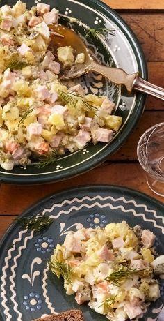 Salat Olivier: russischer Kartoffelsalat