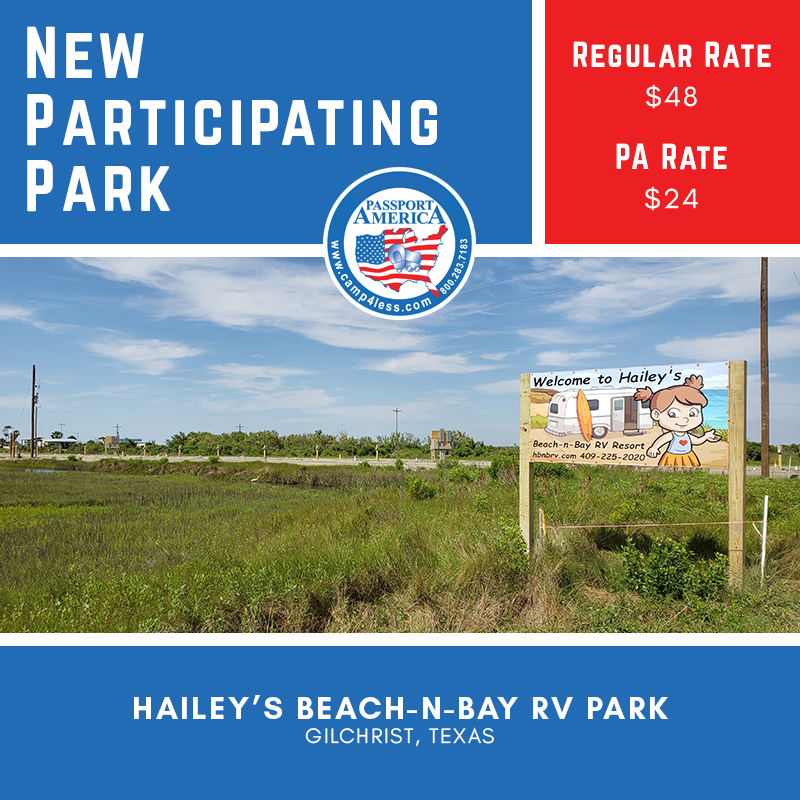 Hailey S Beach N Bay Rv Park Is Located Just One Block From The Beach In Gilchrist Tx This Park Offers 15 Total Rv Sites Accom In 2020 Rv Parks Camping Club Rv Sites
