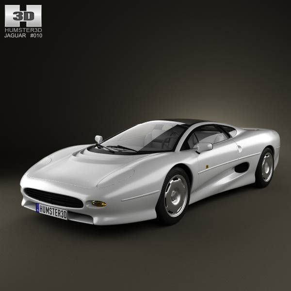 Cars · Jaguar XJ220 1992 3d Model ...