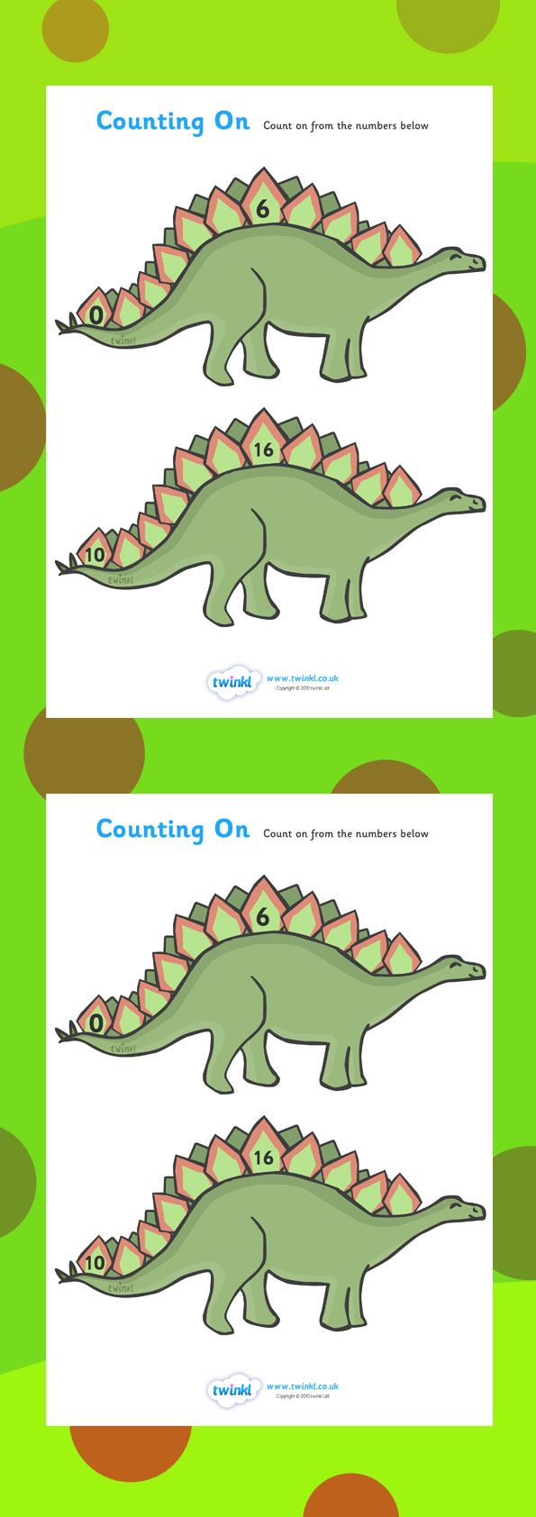 counting on worksheets dinosaurs home school twinkl dinosaurs maths counting teaching. Black Bedroom Furniture Sets. Home Design Ideas