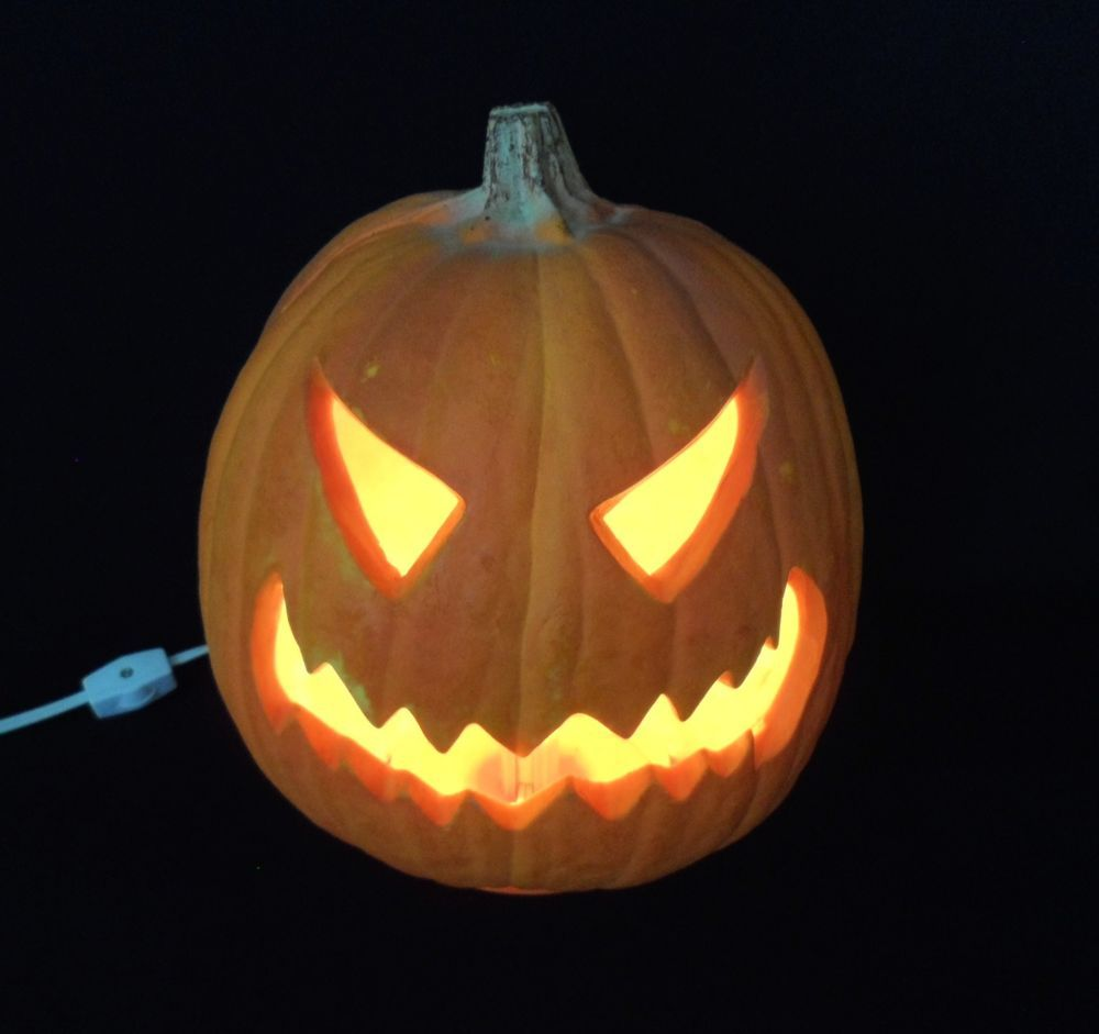 Vintage 1993 Trendmasters 10 Electric Lighted Halloween Foam Pumpkin Jack O Lantern Evile Pumpkin Carving Pumpkin Carving Patterns Halloween Jack O Lanterns