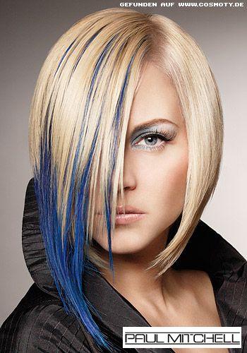 Blond Blau Hair Frisuren Frisuren Trend Und Blaue Strahnen