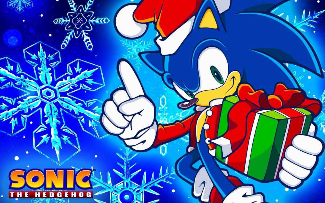 Christmas Sonic Wallpaper by SonicTheHedgehogBG Sonic