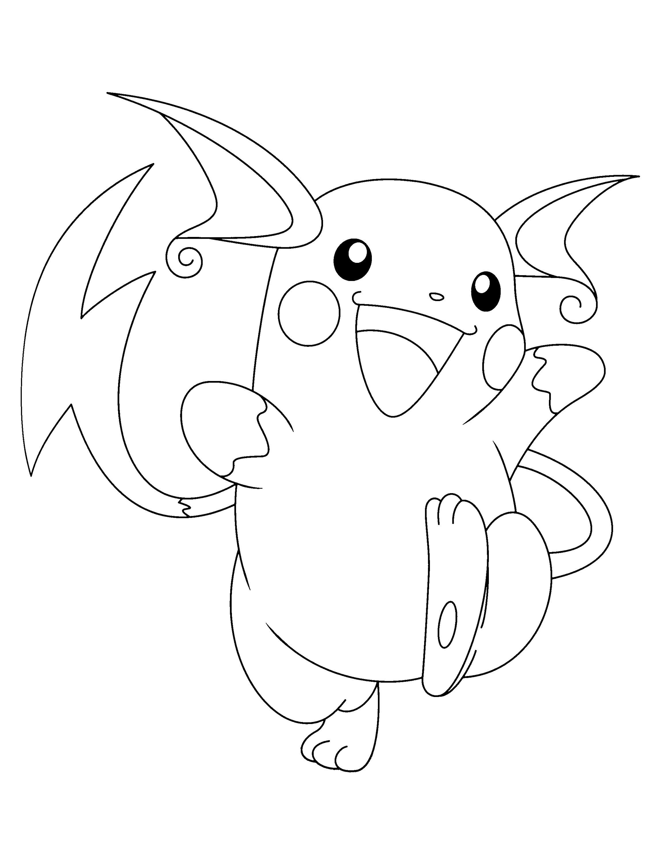 Printable Raichu Pokemon Go Coloring Pages Pokemon Coloring Pages Pokemon Coloring Cartoon Coloring Pages