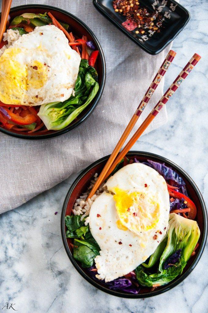 Healthy Brown Rice Stir Fry Bowls