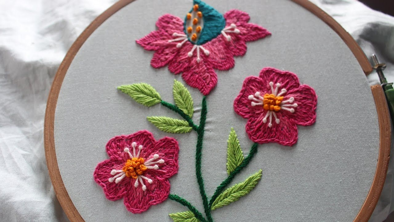 Hand embroidery designs beautiful flower design stitch and hand embroidery designs beautiful flower design stitch and flower 143 izmirmasajfo