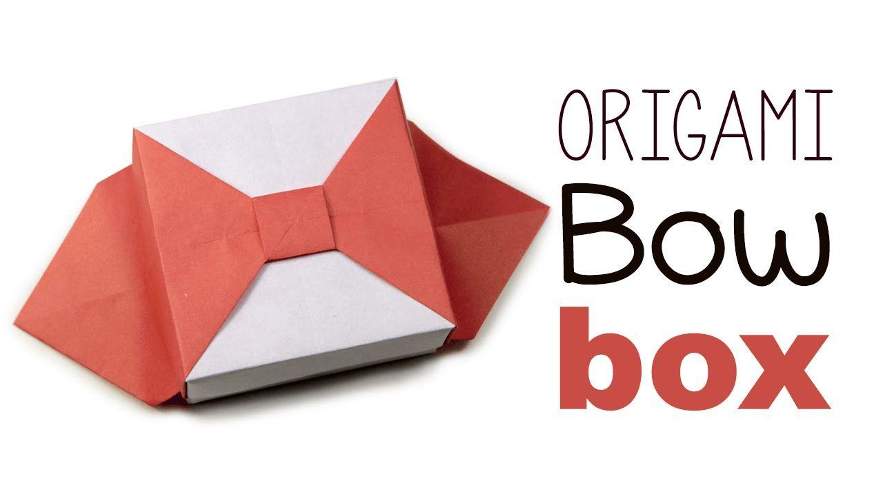 Origami Bow Box V2 Tutorial Origami Box Origami Arte Japonesa