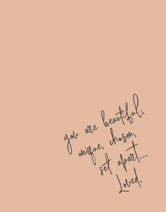 You Are Beautiful, Set Apart, You Are Loved, Bible Verse Print, Bedroom Decor, Scripture Print, Wall Art - INSTANT DOWNLOAD