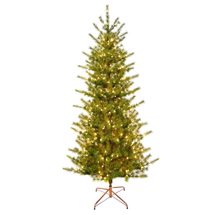 D16 7 Pre Lit Oslo Pine Tree With 300 Warm White Lights Pre Lit Christmas Tree Warm White Tree