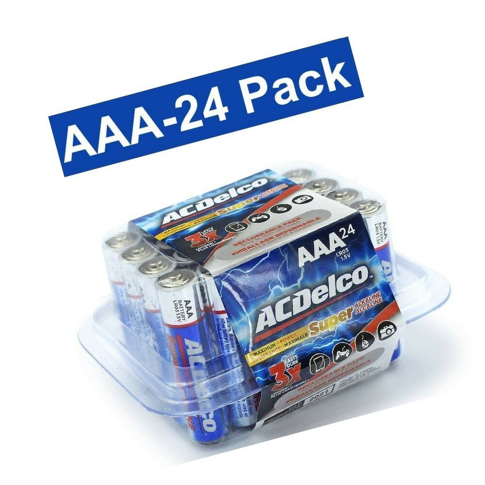 Acdelco Aaa Batteries Triple A Battery Super Alkaline High Performace 24 C 8 30end Date Jun 12 22 40buy It Now For Watch Case Opener Acdelco Glass Fit