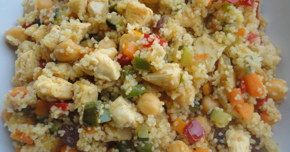 Cous Cous Con Verduras Y Pollo Receta De Rebe Receta Verduras Recetas Saludables Cuscus Con Pollo
