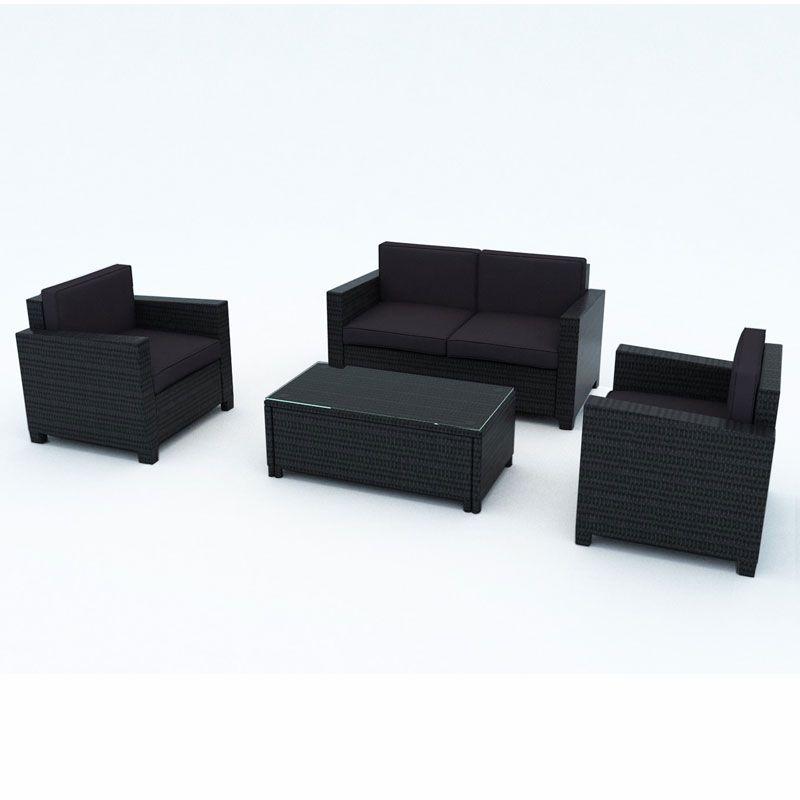 Cuba Loungeset Light Grey.Carlton 4 Piece Pe Wicker Sofa Lounge Setting White Cushion