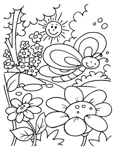 beautiful garden coloring page free printable coloring pages - HD 881×1024