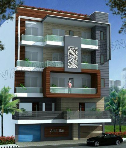 35 Ideas House Front View Balconies