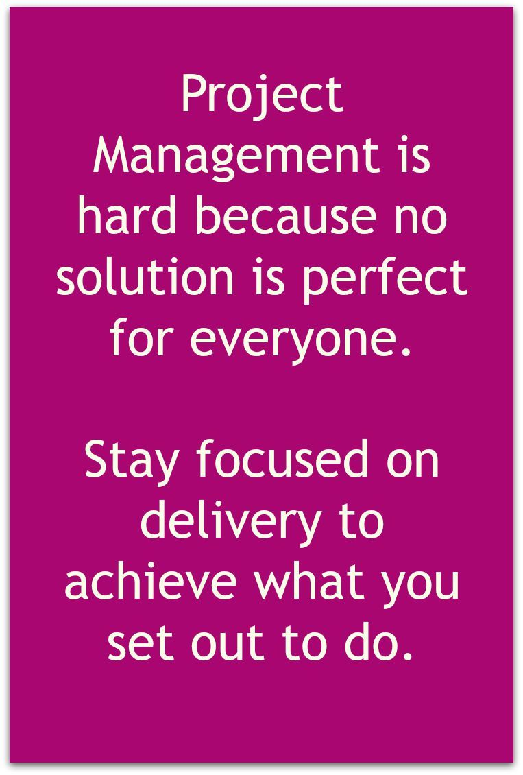Focus On Delivery Is The Key To Success When Managing A Project