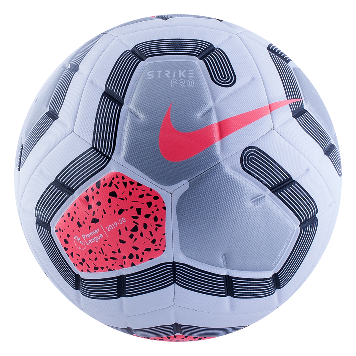 Nike Premier League Strike Pro Soccer Ball 19 20 White Pink 5 Soccer Ball Soccer Premier League