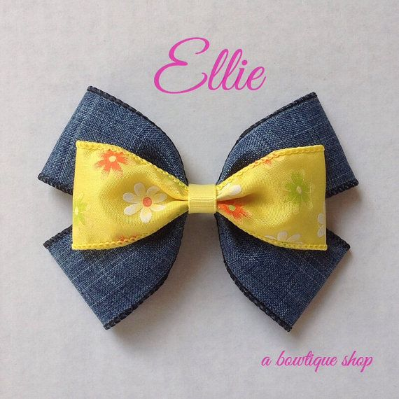 ellie hair bow by abowtiqueshop on Etsy