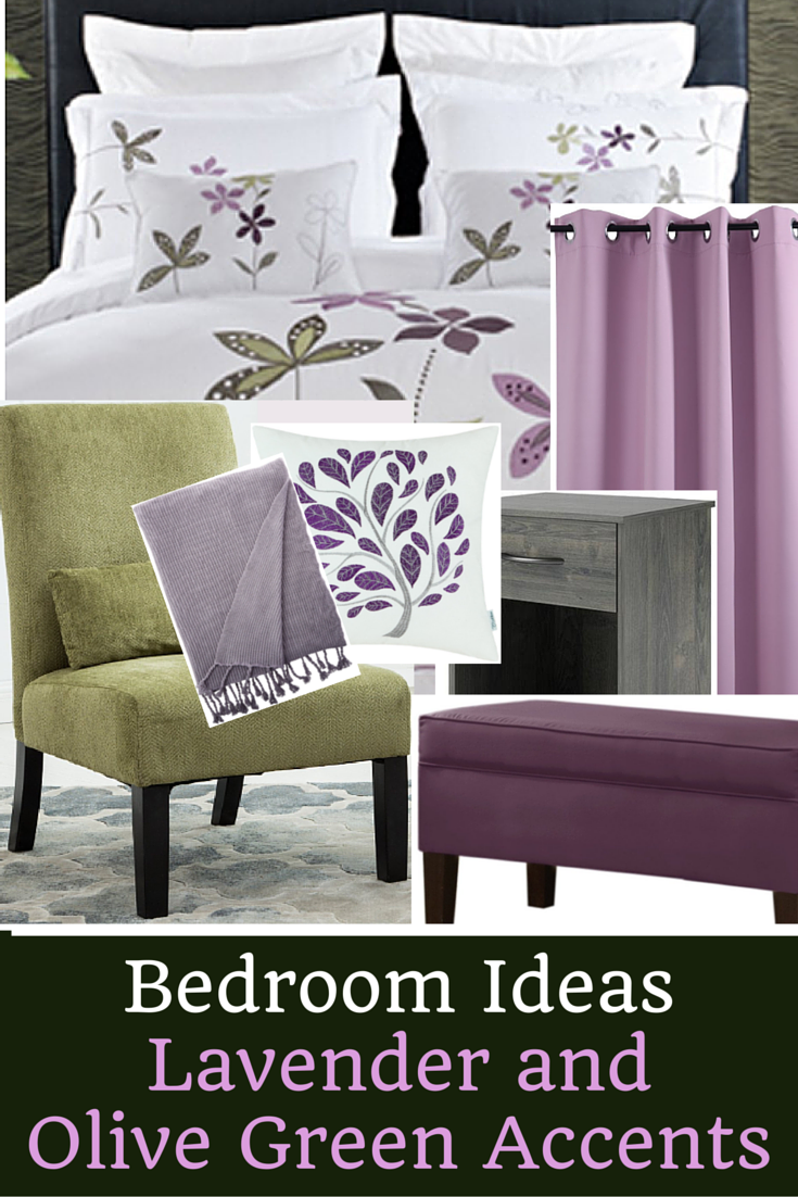 Lavender and Olive Green Bedroom Inspiration | Olive green ...