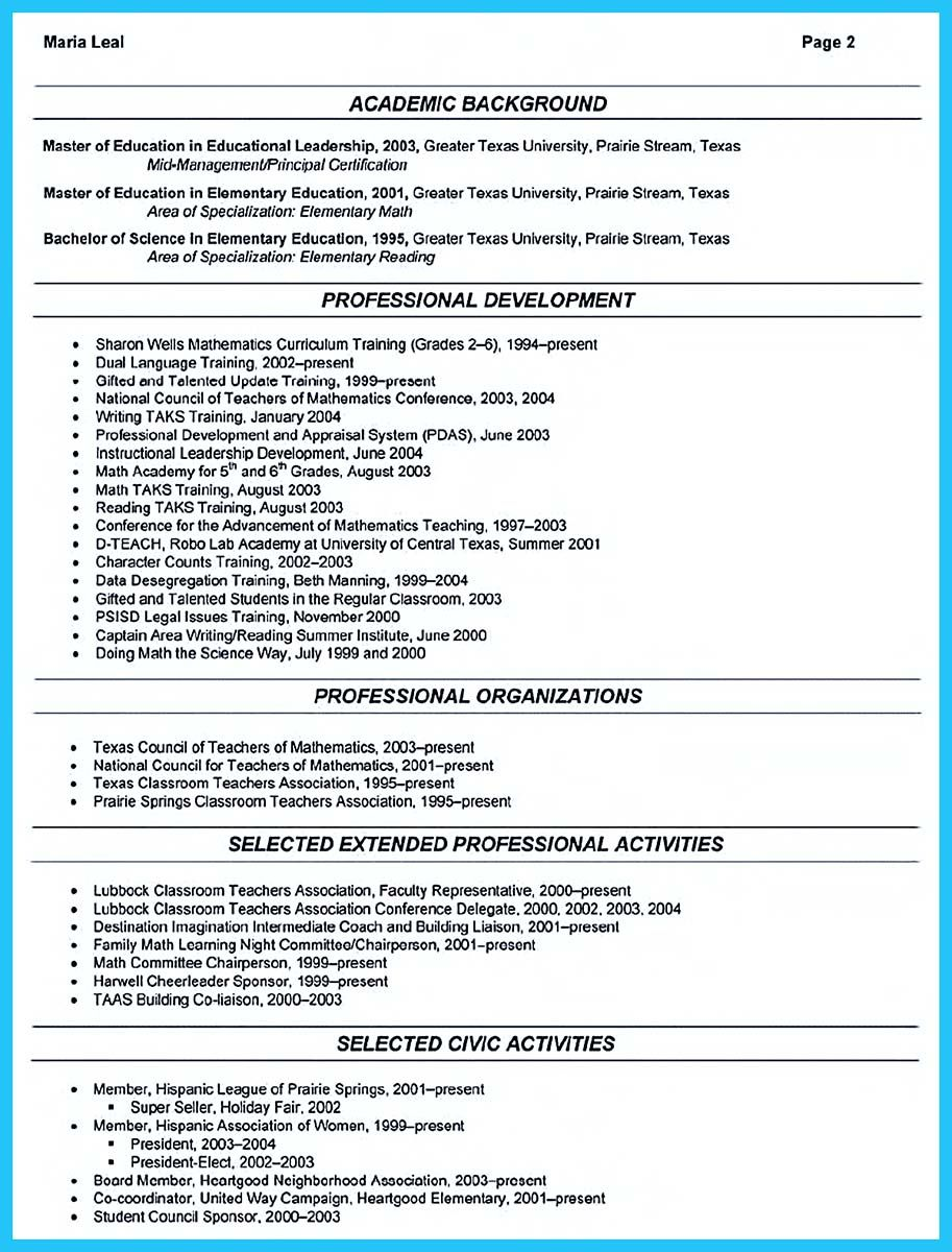 affiliation in resume sample.html