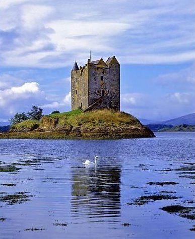 Castle Stalker by Port Appin near Oban, Argyll, Scotland