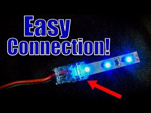 How To Use Clicktight Led Strip Light Connectors Youtube Led Lighting Diy Led Tape Lighting Led Xmas Lights