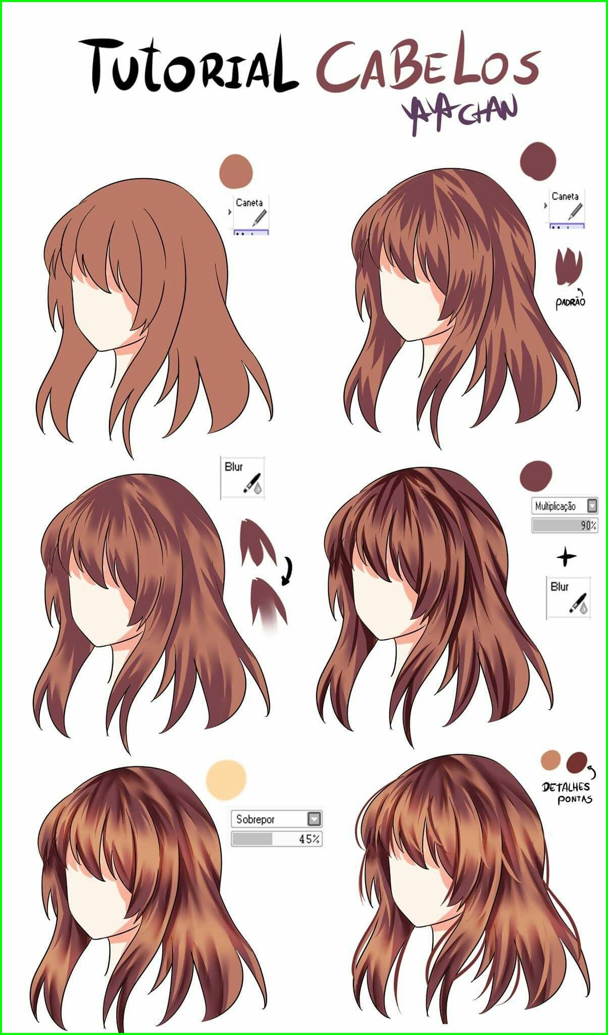 Anime Hair Color Meaning 14078 I Can T Even Draw Hair To Begin With But Okay In 2020 Drawing Hair Tutorial Anime Hair Color How To Draw Hair