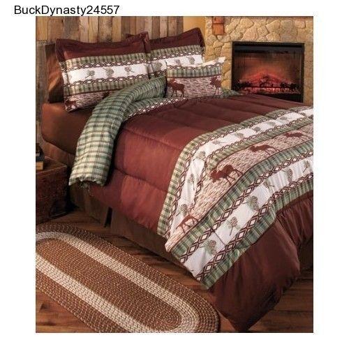 Moose Lodge Comforter Set - Bedding Log Cabin Country Style ... : moose lodge quilt set - Adamdwight.com