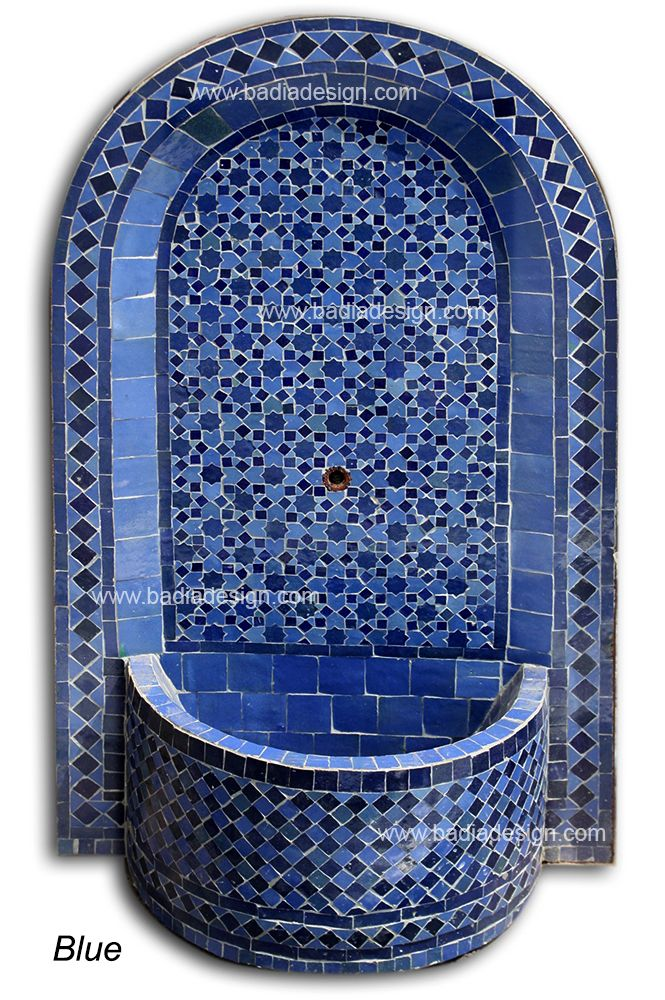 Moroccan Tile Water Fountain Mf001 Water Fountains