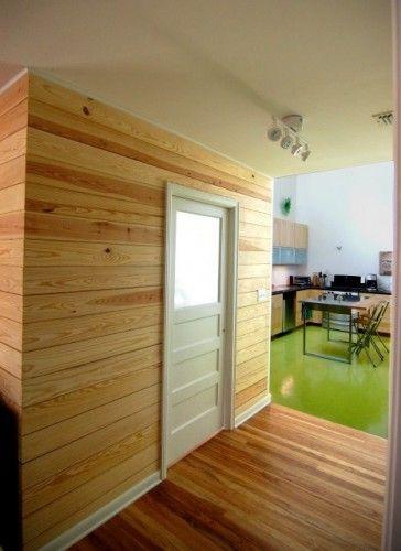 Linoleum In Kitchen Transitioning To Hardwood Kitchen Floor Cedar Walls Tongue Groove Walls White Paneling