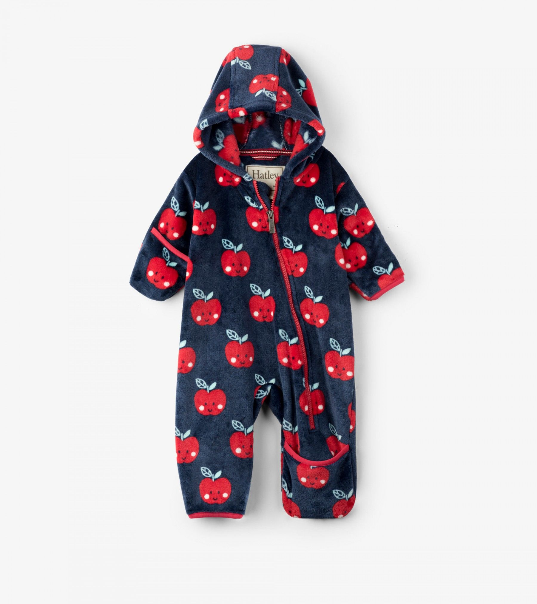 9475083855db Smiling Apples Fuzzy Fleece Baby Bundler - Fall Fuzzy Fleece for All ...