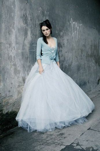 Sky Blue Haute Couture Maxi Tulle Skirt/ Tailor by EvoletFashion ...