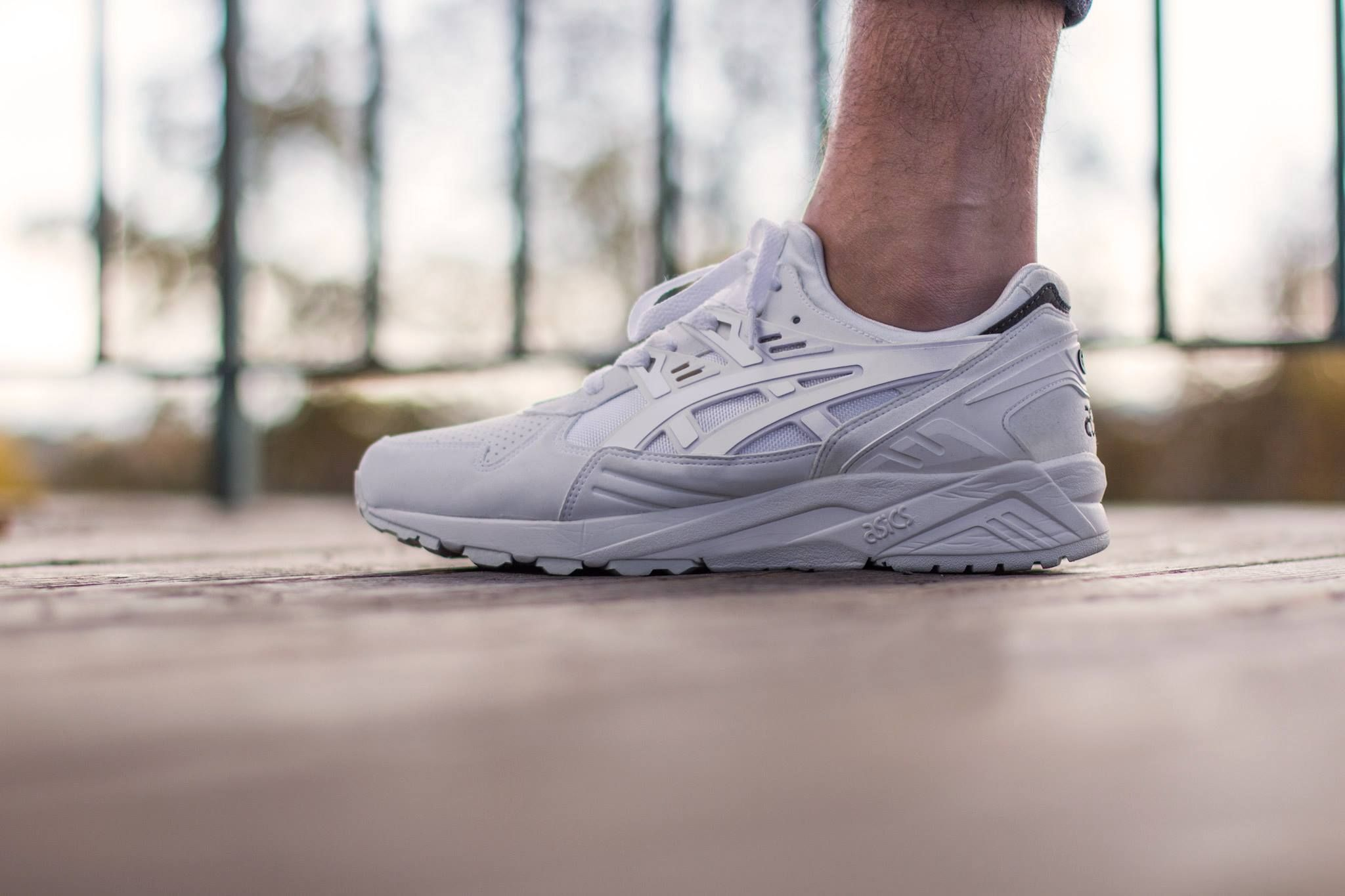 An All White Asics Gel Kayano Trainer for Spring 2015