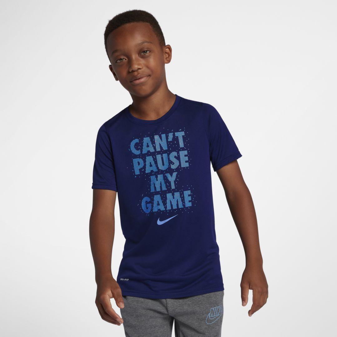 5611fba1f5 Nike Dri-FIT Legend Big Kids' (Boys') Training T-Shirt Size L (Blue Void)