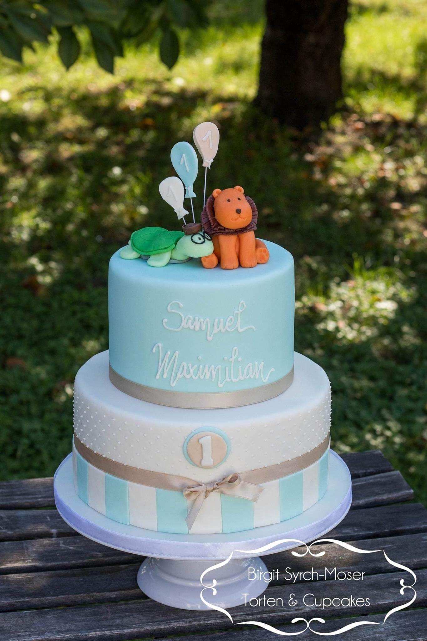 Schildkrote Tiger 1 Geburtstag Birthday Cake