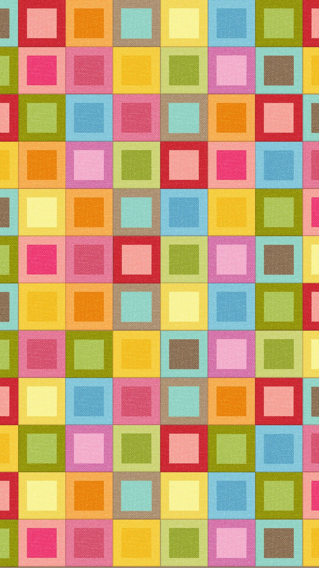 Multicolored checkered iPhone pattern wallpaper mobile9