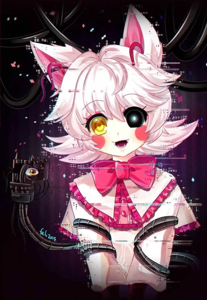 Mangle if she was an anime character looks pretty cute if